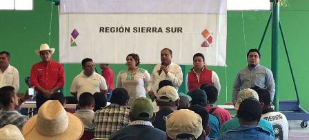 Reactiva SAGARPA y SEDAPA la actividad agrícola en la Sierra Sur de Oaxaca