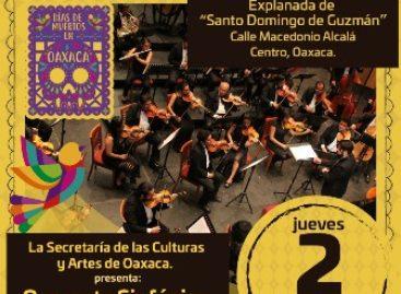 """Rinde Orquesta Sinfónica de Oaxaca tributo a los """"Fieles difuntos"""""""