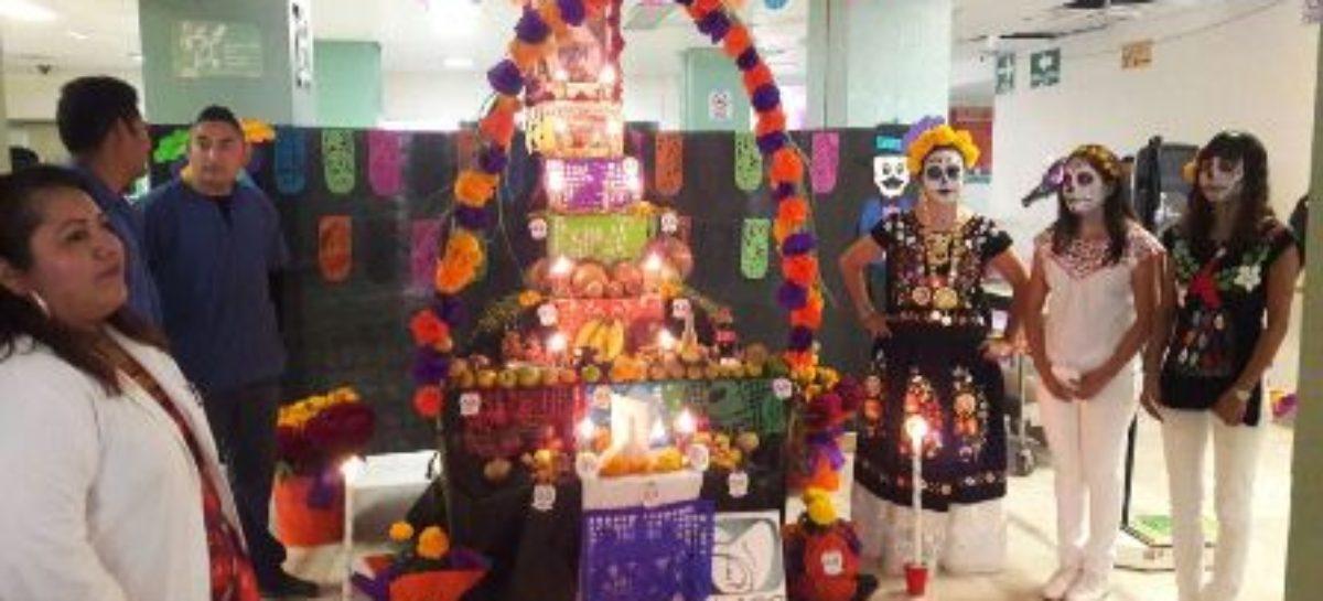 Participan diez altares en concurso organizado por el IMSS-Oaxaca