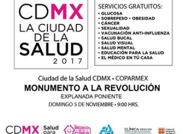 """Realizará COPARMEX CDMX y GCDMX este domingo jornada """"La Ciudad de la Salud"""""""