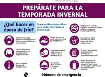 Emite Gobierno de Xoxocotlán recomendaciones ante la temporada de frío