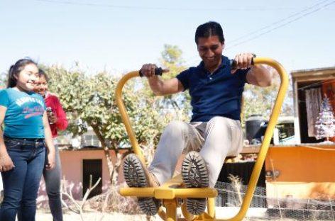 Inauguran gimnasios al aire libre en dos colonias de Xoxocotlán, Oaxaca