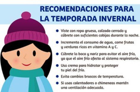 Emite Gobierno de Xoxocotlán recomendaciones ante la temporada invernal