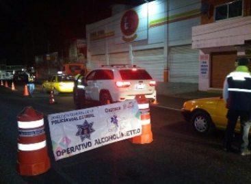 Arrestados 21 conductores en Operativo Alcoholímetro en Valles Centrales y Papaloapan