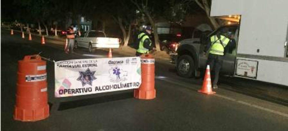 Continúa aplicación del Operativo Alcoholímetro en Oaxaca de Juárez y Tuxtepec: SSPO