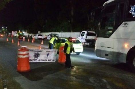 Sanciona Policía Vial Estatal a 41 conductores en seis operativos Alcoholímetro