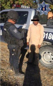 El detenido y el arma fueron puestos a disposición de la autoridad.