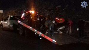 Las diez unidades de motor quedaron bajo el resguardo de la Policía Vial Estatal.