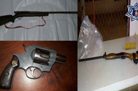 Asegura Policía de Oaxaca cuatro armas de fuego en recorridos de seguridad y vigilancia