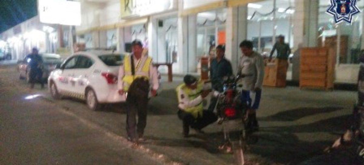 Retiran 10 motocicletas de la vía pública en el Istmo por falta de documentación: SSPO