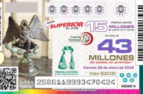Celebrarán Sorteo de la Lotería Nacional con imagen conmemorativa del Tribunal Electoral