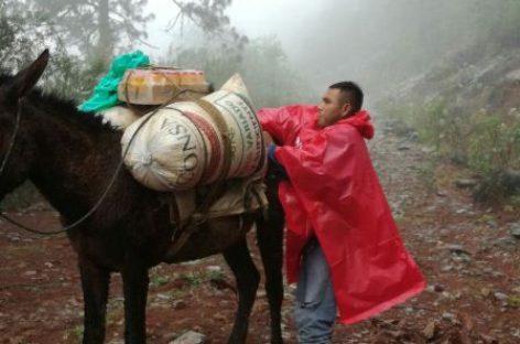 Garantiza DICONSA el abasto en zonas gélidas de Veracruz
