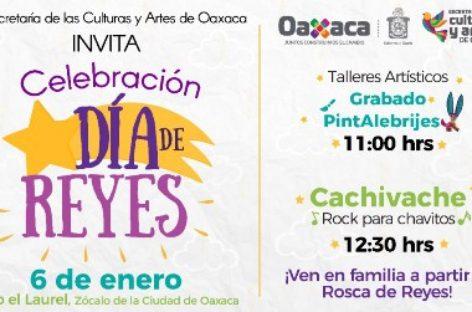 Invita SECULTA a la celebración del Día de Reyes en el Zócalo