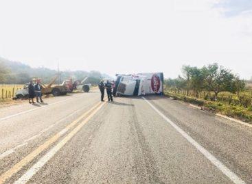 Evento de Norte provoca quinta volcadura de tráiler del año en Oaxaca: CEPCO