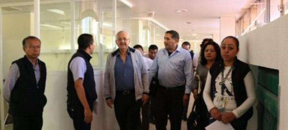 Realizan IMSS y SNTSS recorrido de supervisión en Hospital General de Zona