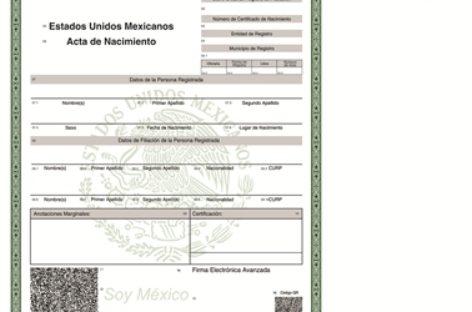 Acta de nacimiento en línea es documento oficial para trámites y servicios: IMSS
