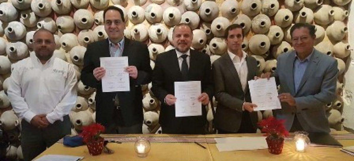 Firman IEEPO y Fundación BBVA convenio para rehabilitación de escuelas