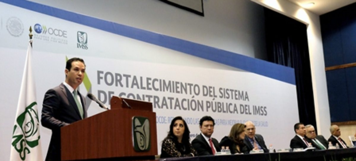 IMSS, pionero y líder de la transparencia en compras públicas: OCDE