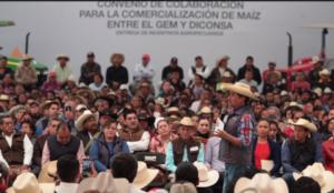 A campesinos del Estado de México