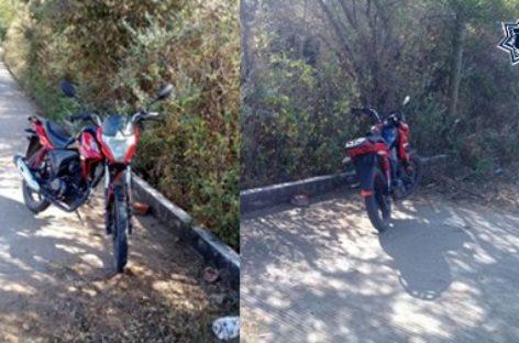 Asegura Policía Estatal motocicleta con reporte de robo en Ejutla de Crespo, Oaxaca