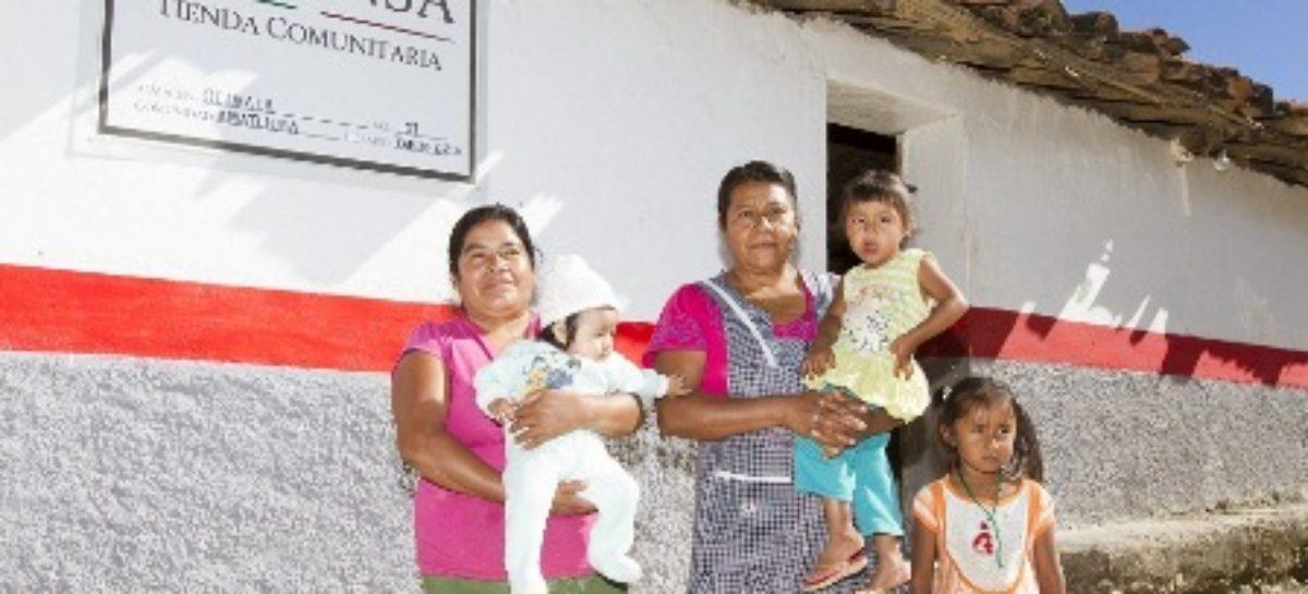 Con más de tres mil 500 tiendas comunitarias, DICONSA abastece el centro del país
