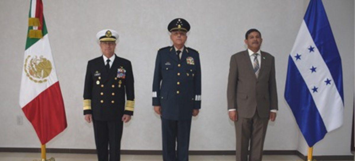 Visita México secretario de Estado en el Despacho de Defensa Nacional de Honduras