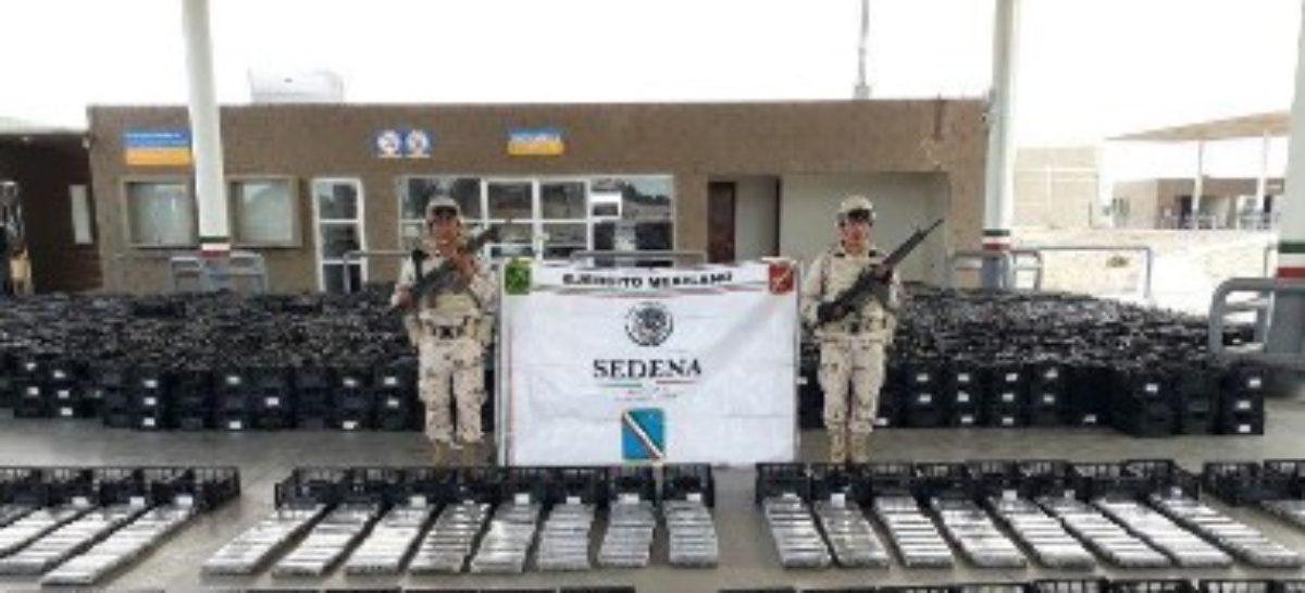 Asegura Ejército Mexicano 803 kilogramos de cocaína en Sonora