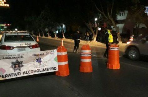 Arrestados 19 conductores durante Alcoholímetro en Tuxtepec y Oaxaca
