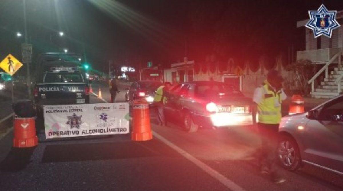 Arrestados 11 conductores durante Alcoholímetro de Oaxaca y Tuxtepec