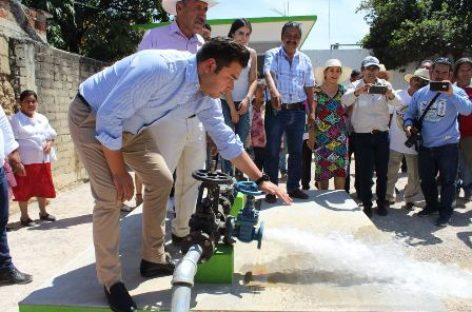 Inauguran nuevo pozo profundo de agua en San Francisco Tutla, Oaxaca