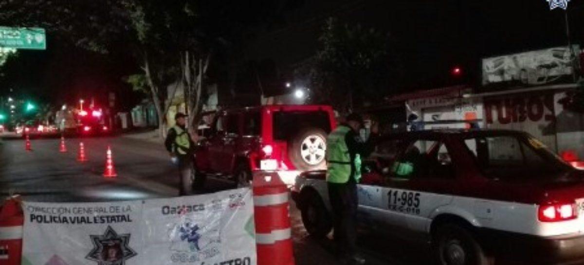 Arrestados 25 conductores durante operativos Alcoholímetro en Oaxaca y Tuxtepec