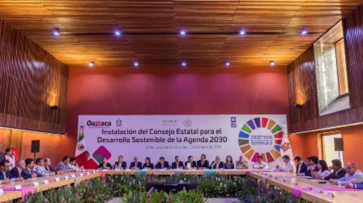 Instalan en Oaxaca Consejo Estatal de la Agenda 2030 para el Desarrollo Sostenible
