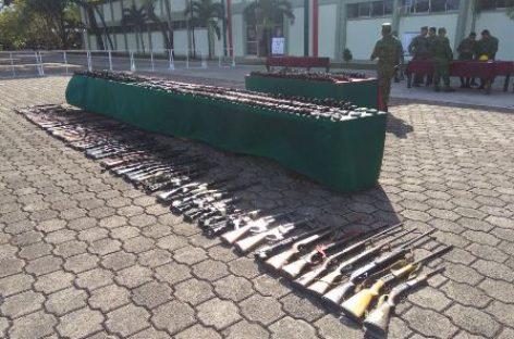 Inutiliza Sedena mil 890 armas en el Campo Militar número 1-A CDMX