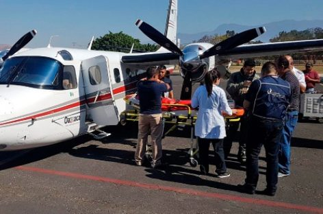 Realiza Ambulancia Aérea dos traslados a Hospital de Alta Especialidad en Galveston, Texas