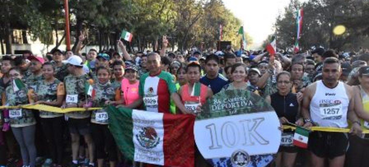 """Con éxito realiza Sedena octava carrera deportiva """"Unidos Somos la Gran Fuerza de México"""""""