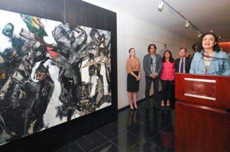 Inauguran exposición pictórica de artistas mexicanos y cubanos en el Senado