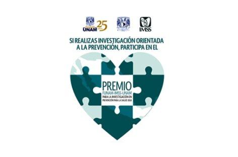 """Convocan al """"Premio Funam-IMSS-UNAM a la Investigación en Prevención para la Salud 2018"""""""
