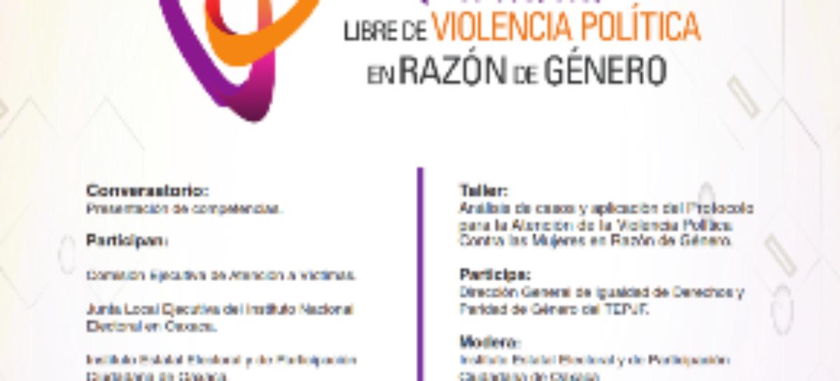 "Realizarán Curso-Taller ""Paridad Libre de Violencia Política en Razón de Género"""