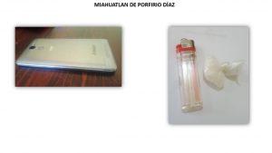 En el penal de Miahuatlán aseguran una dosis de cristal y un celular.
