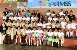 """Alumnos de primer y segundo grado de la primaria """"15 de Septiembre"""" de la colonia Antiguo Aeropuerto."""