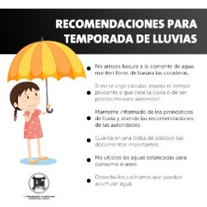 Emiten en Xoxocotlán una serie de recomendaciones por las lluvias.