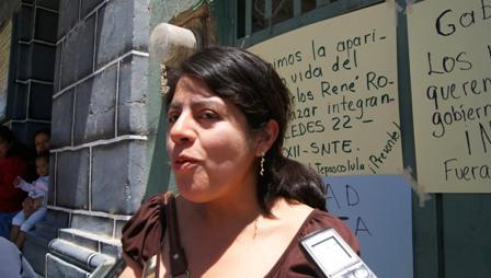 representante sindical de la delegación 213 de la Escuela Normal Experimental de San Pedro y San Pablo Teposcolula