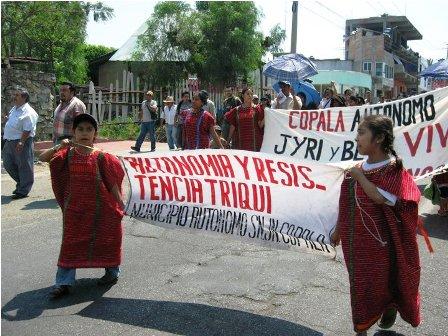 Suspende marcha caravana de San Juan Copala a Oaxaca, anuncia Municipio Autónomo Triqui
