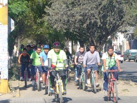 Fomentar la cultura vial, otra meta del programa Paseo Dominical Bienestar en Oaxaca