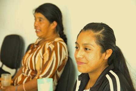Indígena Mixe, de 14 años de edad