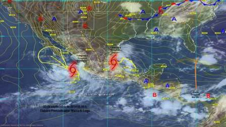 """Mantendrán huracán """"Norbert"""" y tormenta """"Dolly"""" lluvias fuertes a intensas en gran parte del país"""