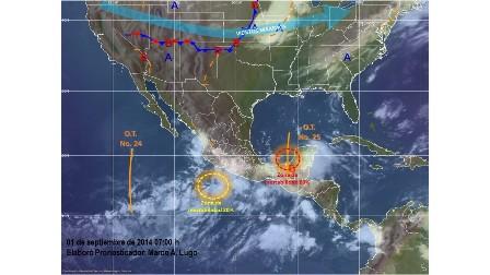 Golfo de México y Océano Pacífico