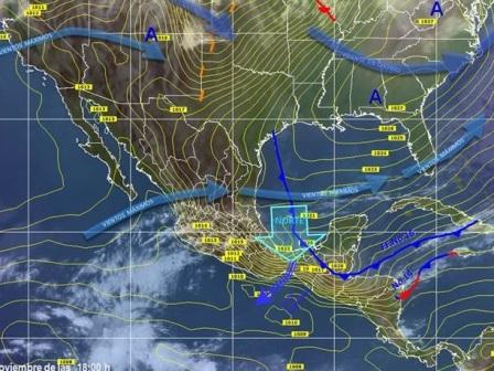 Persistirán bajas temperatura en Oaxaca por el paso del Frente Frío Número 15