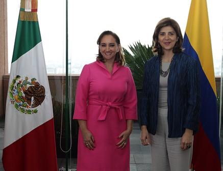 Analizan cancilleres agenda bilateral y multilateral Colombia y México