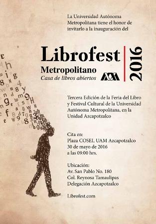 Arranca este lunes III Edición del Festival Metropolitano del Libro Librofest 2016